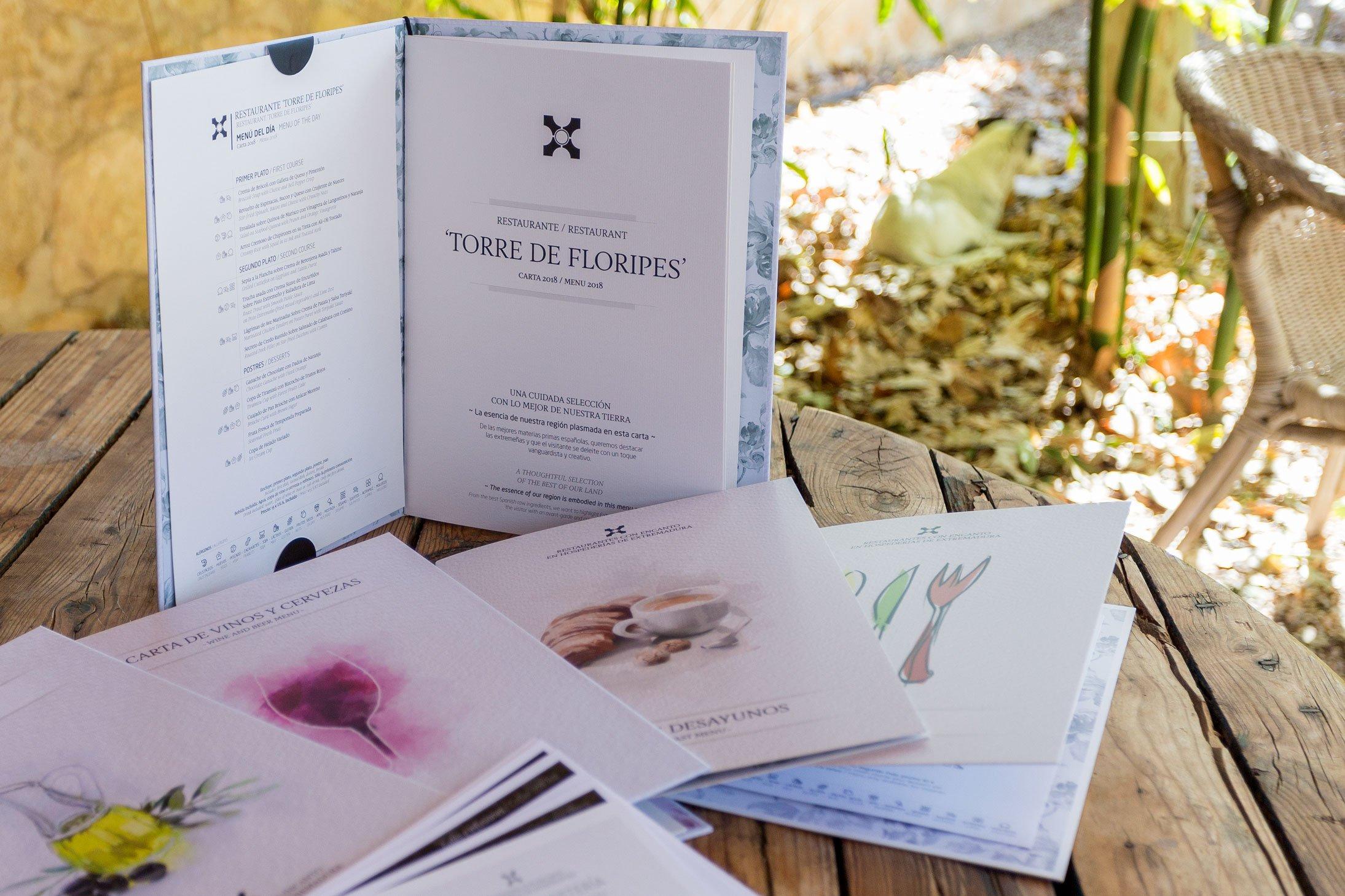 Cartas de restaurante, además de diseño, responsabilidad